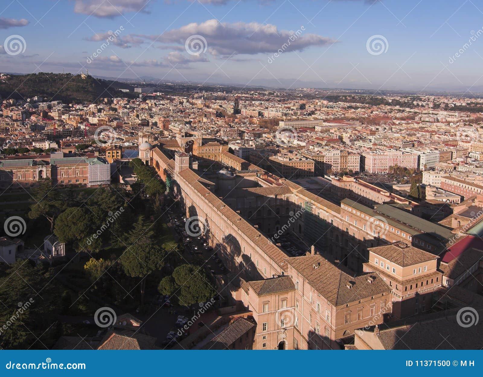 Vista aos museus de Vatican