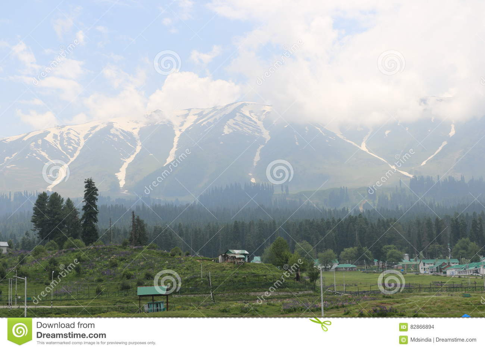 Vista bonita de Gulmarg