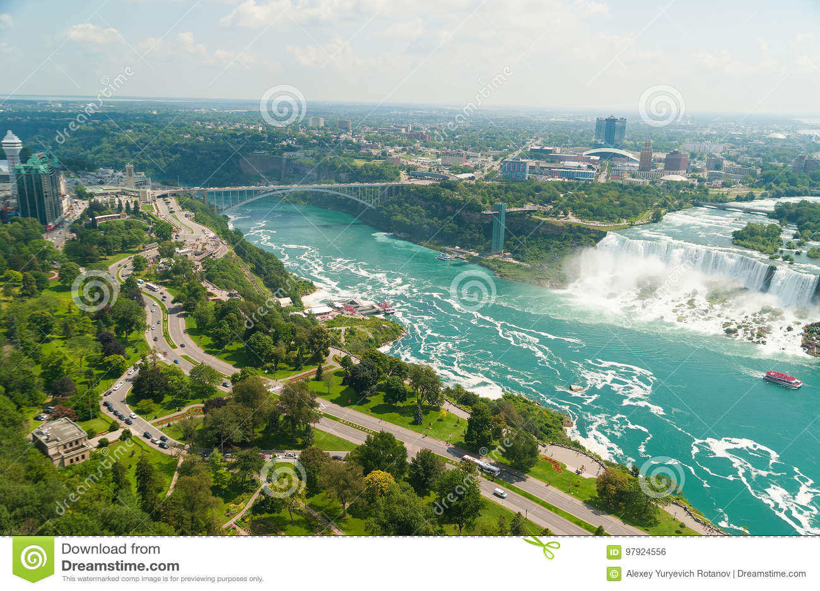 Vista bonita em Niagara Falls