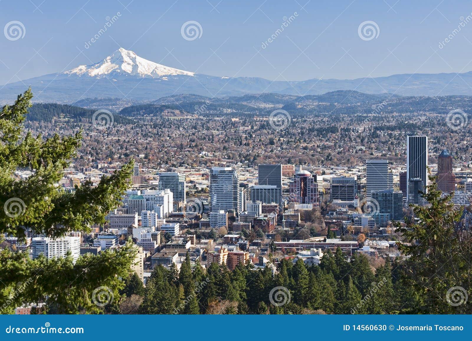 Vista bonito de Portland, Oregon