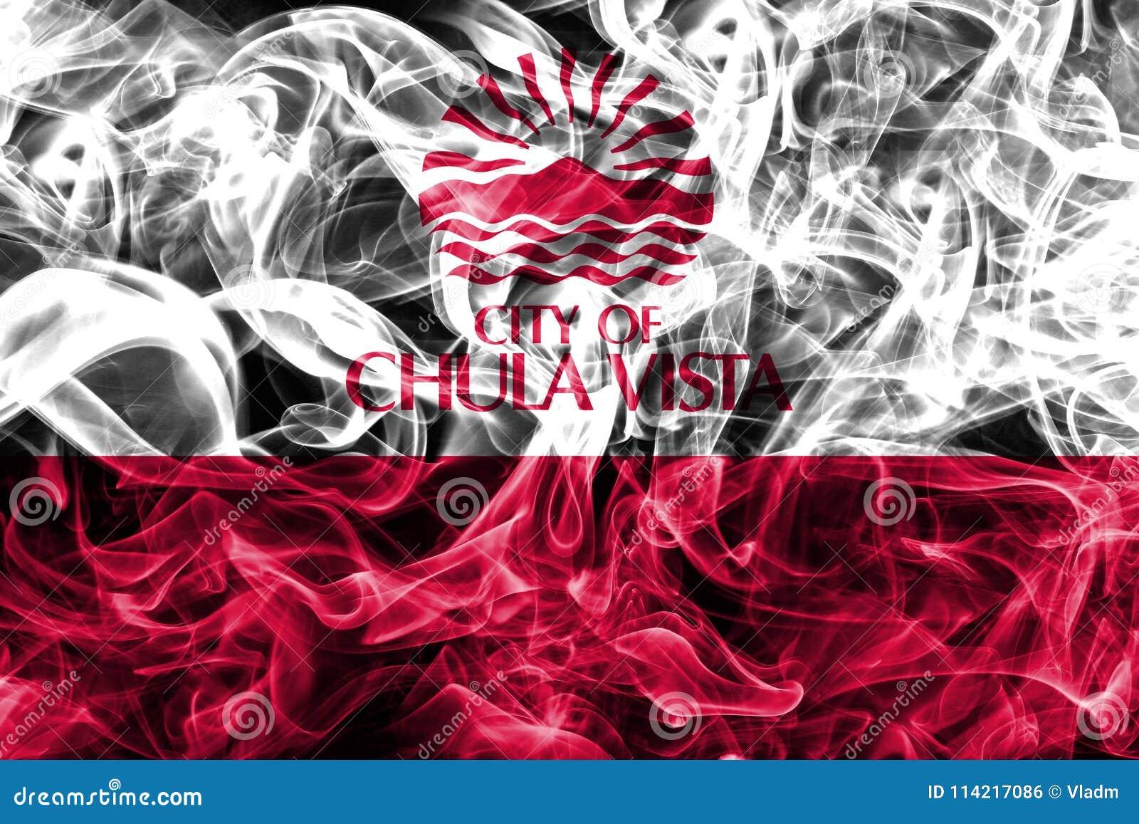Vista Chula σημαία καπνού πόλεων, κράτος Καλιφόρνιας, Πολιτεία
