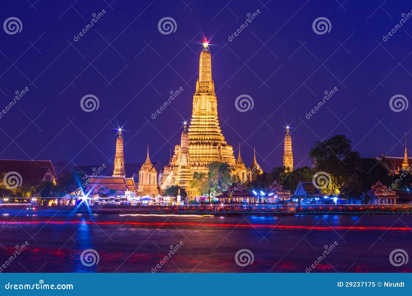 Download Vista Crepuscular De Wat Arun Imagem de Stock - Imagem de tourism, sunset: 29237175