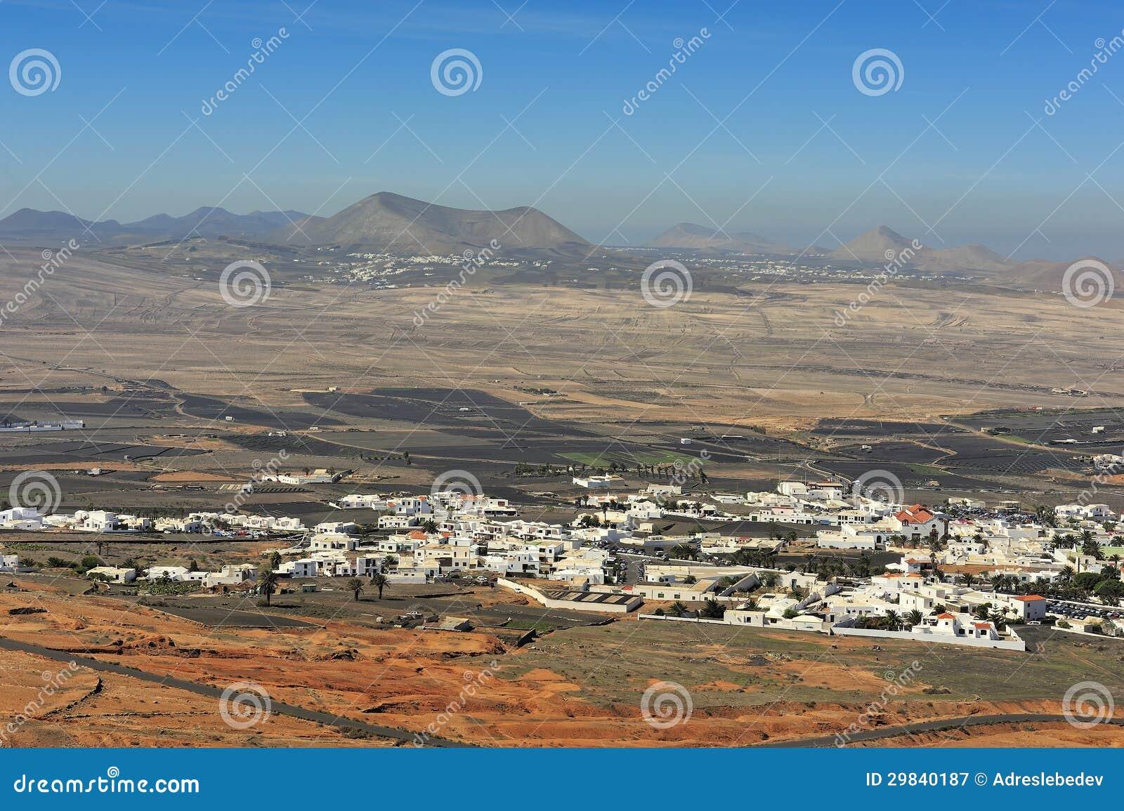 Cidade de Teguise e ilha de Lanzarote de Guanapay, Ilhas Canárias,