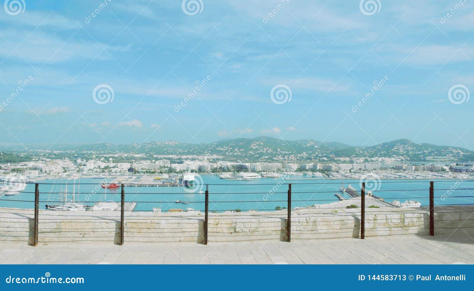 Vista da citadela de Ibiza