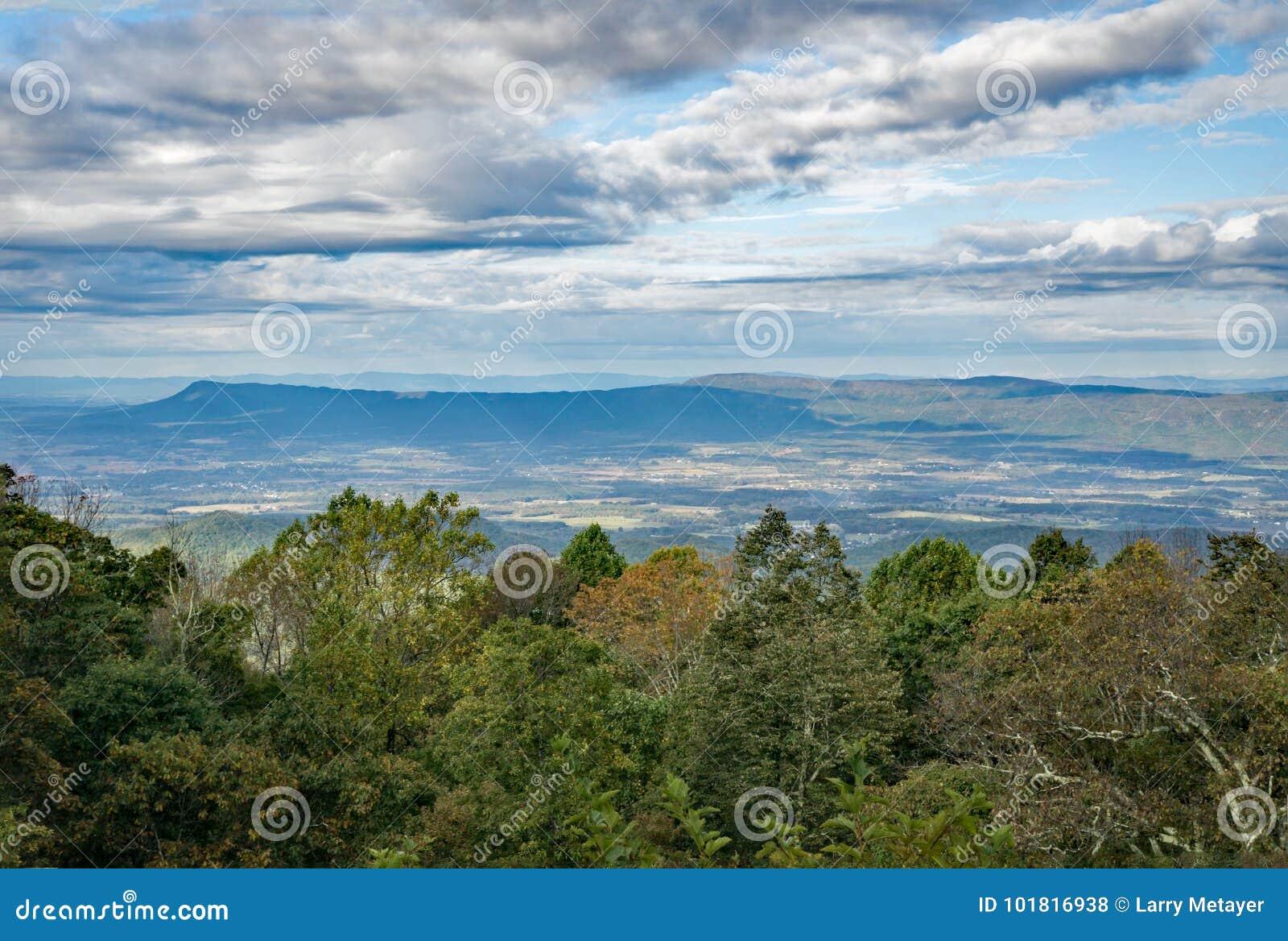 Vista da montanha de Massanutten