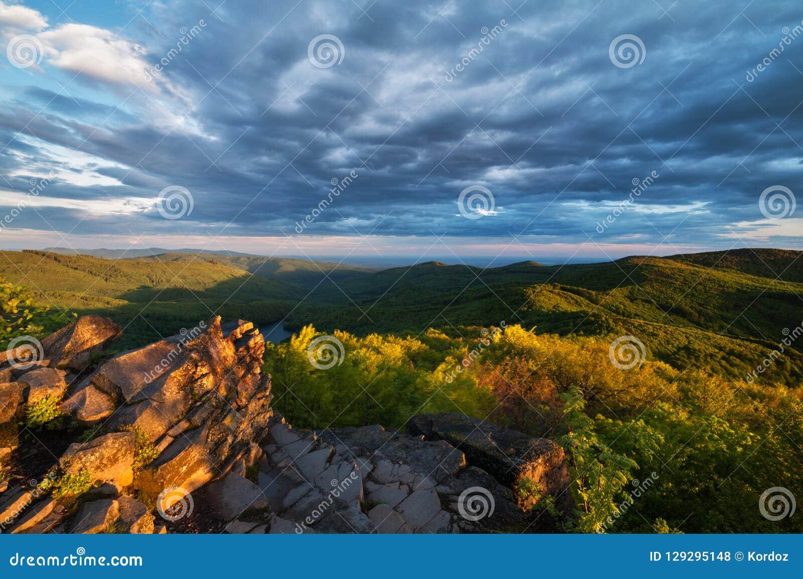 Vista da montanha de Vihorlat