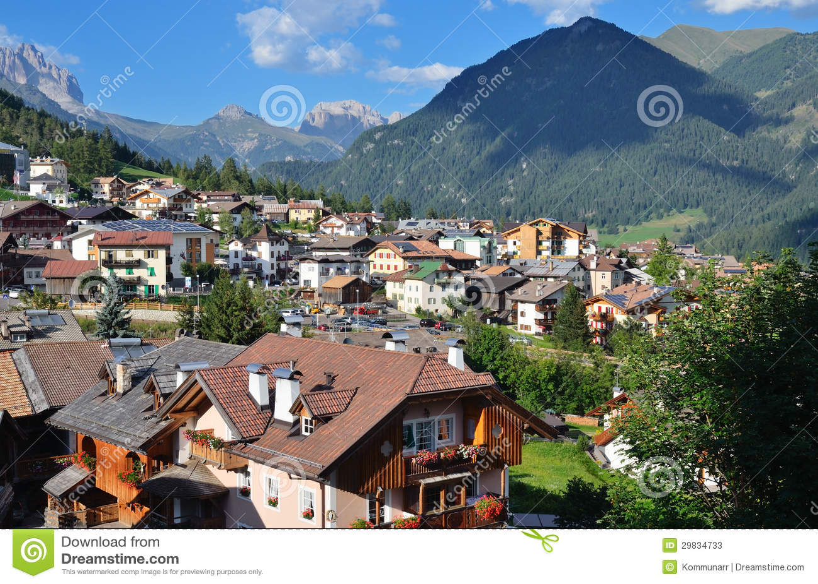 Vista da vila alpina