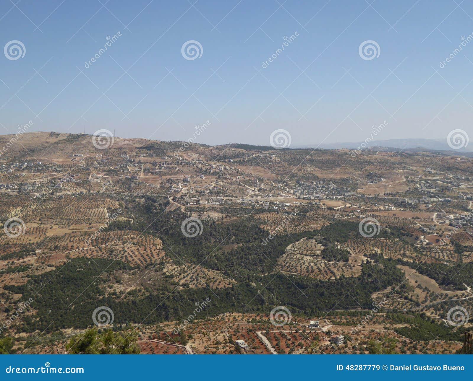 Vista dal castello di Ajloun
