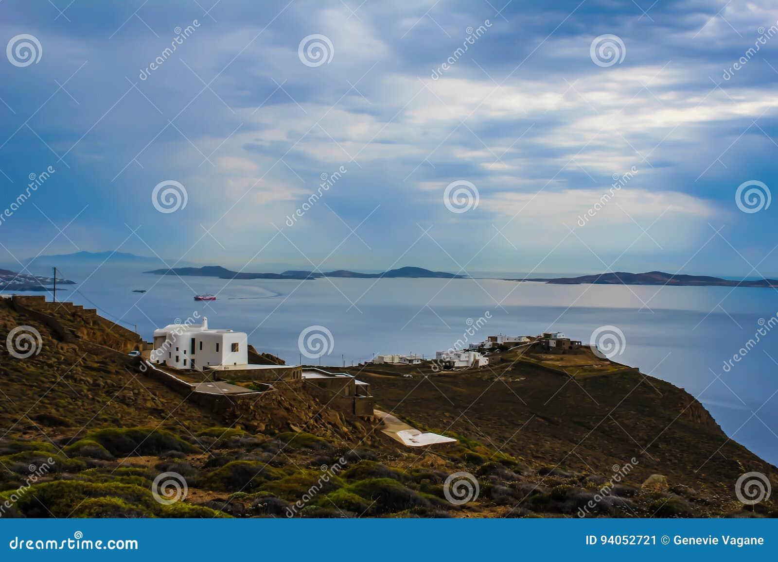 Vista dal faro di Mykonos
