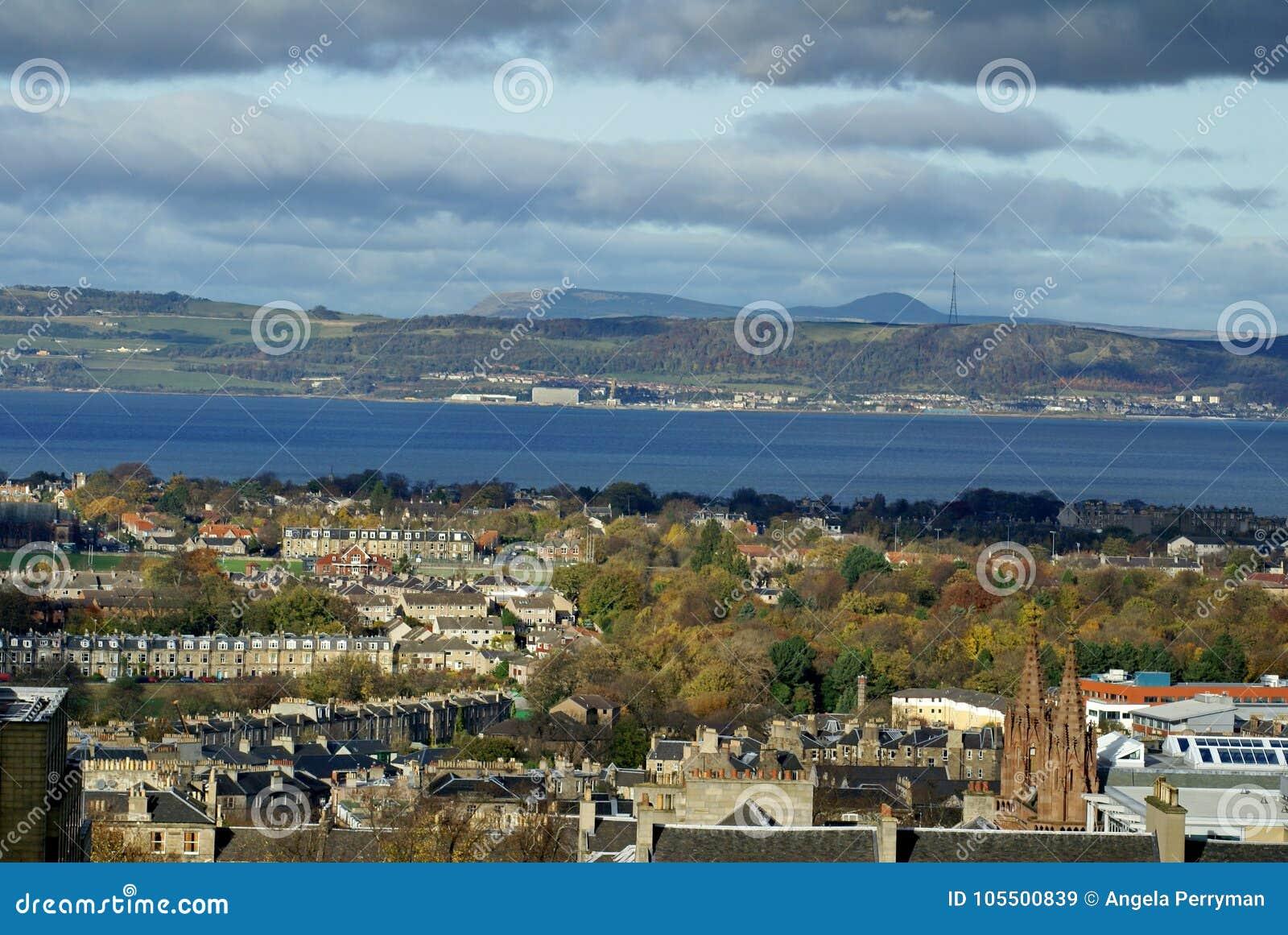 Vista de arriba de Edimburgo, Escocia