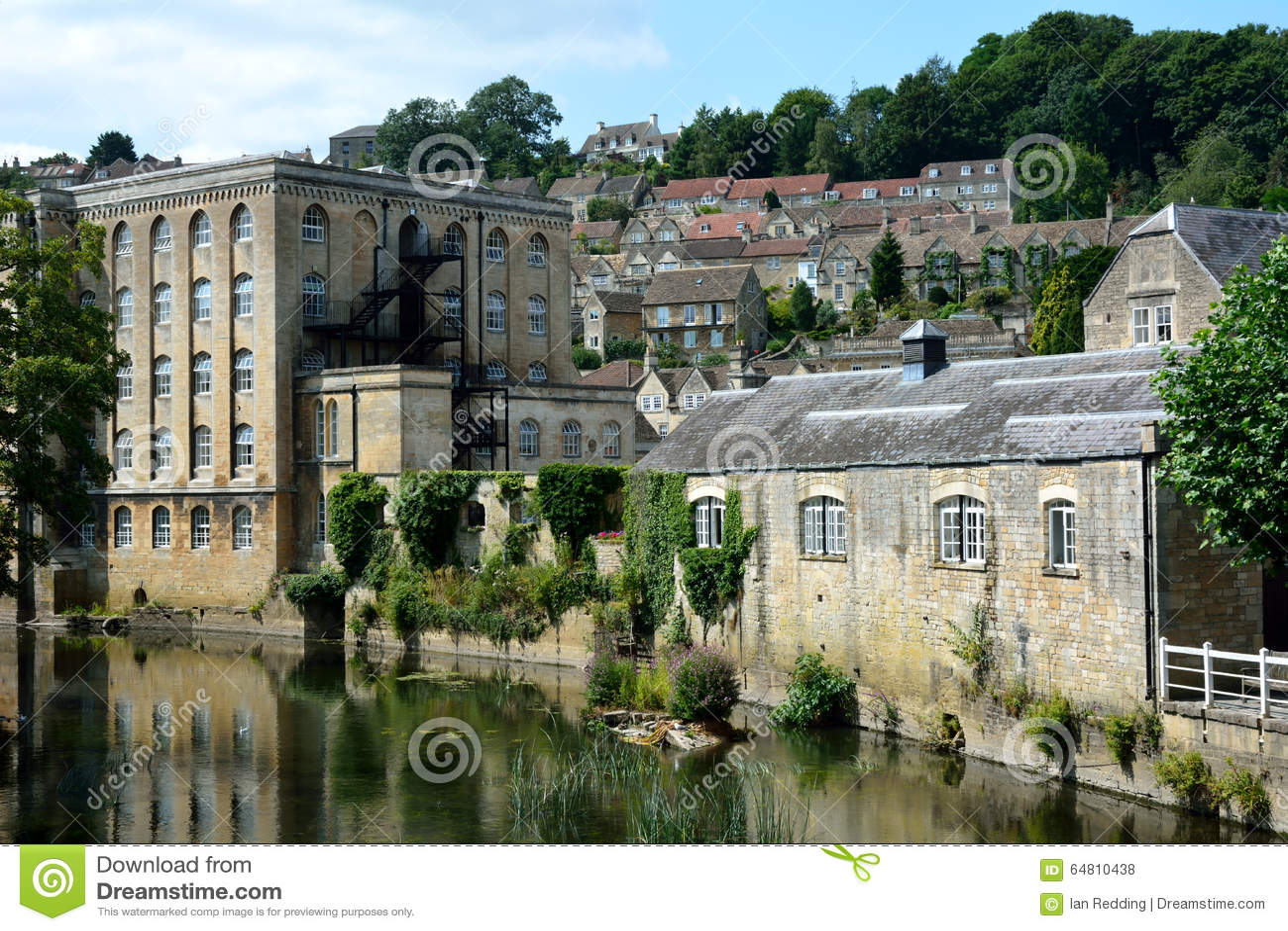 Vista de Bradford-em-Avon, Wiltshire, Reino Unido