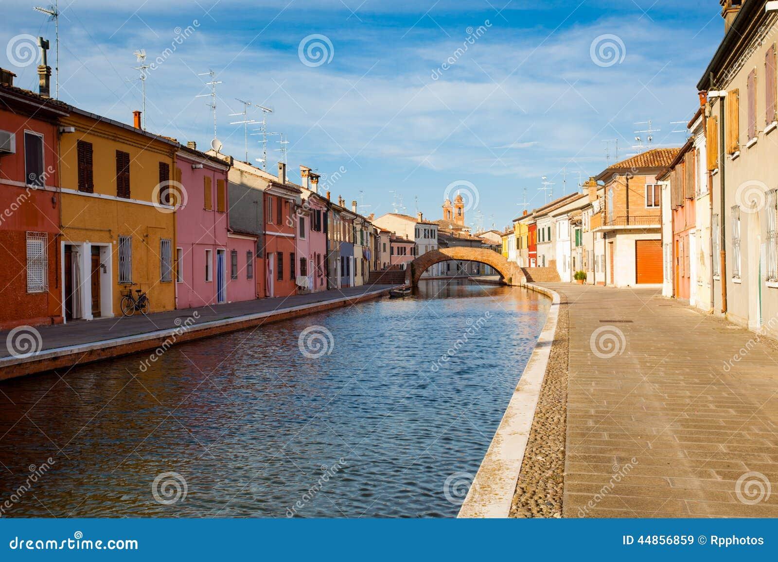Vista de Comacchio, Ferrara, Italia