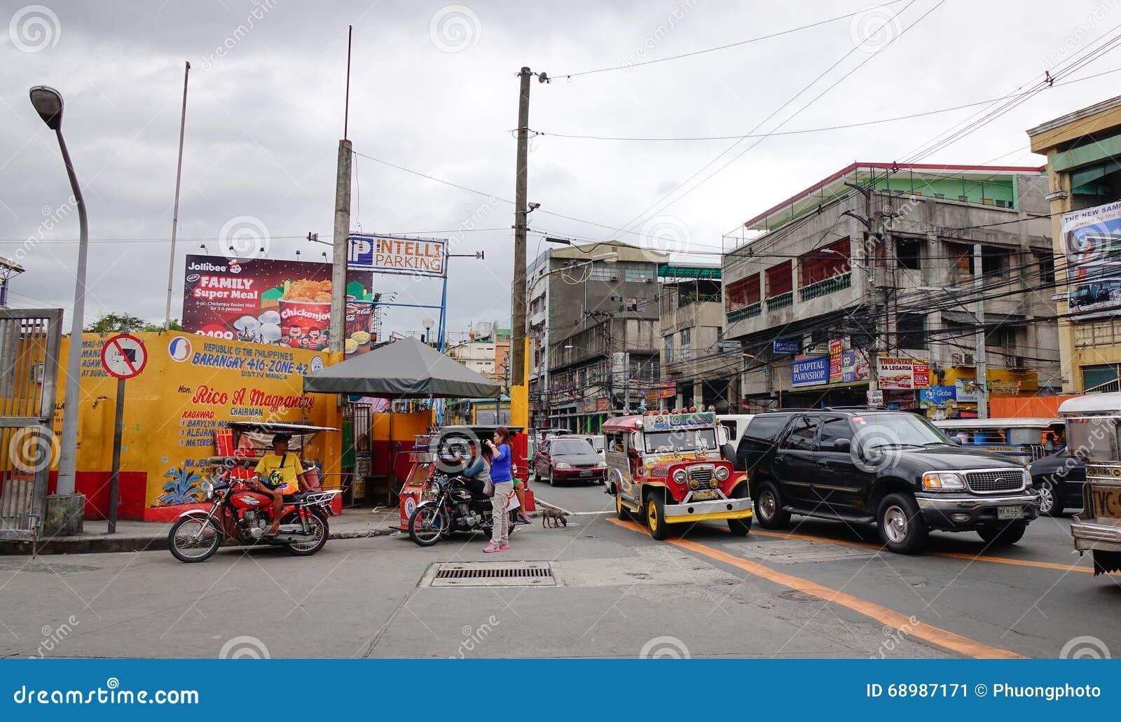 Vista de la calle en Manila, Filipinas