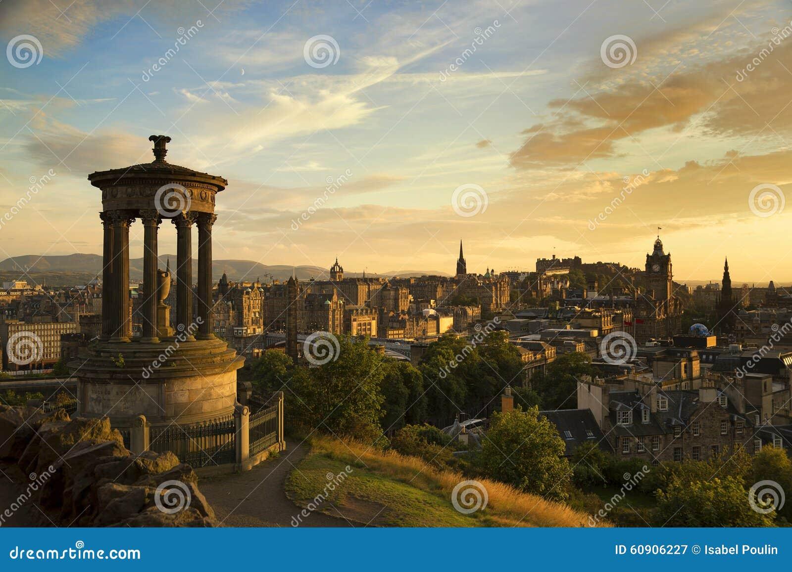 Vista de la ciudad de Edimburgo de Carlton Hill