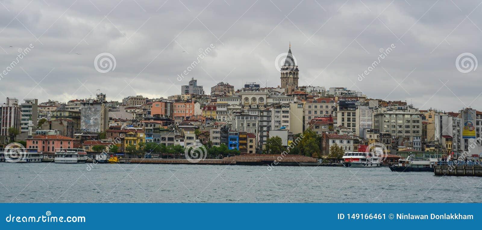 Vista de la costa de Estambul