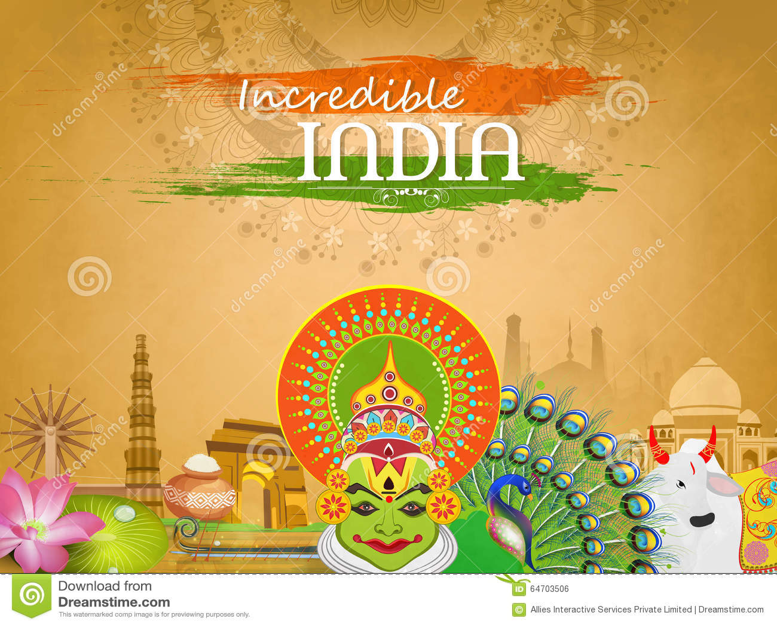 Vistazo De La Cultura India Para La Celebración Del Día De La ...
