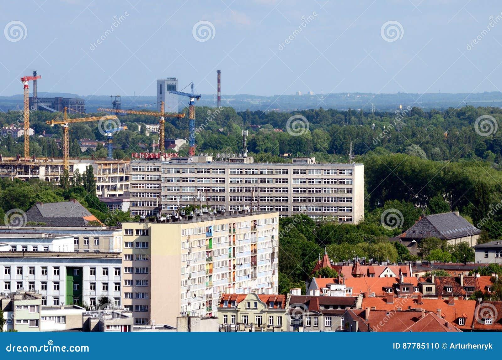 Vista de la Gliwice en Polonia