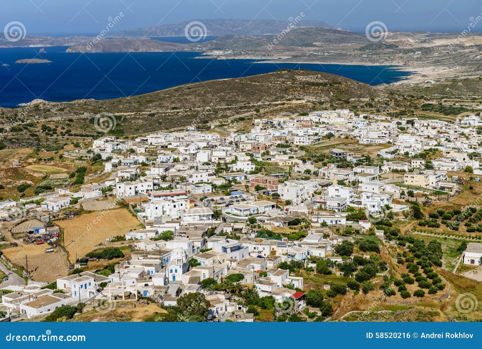 Vista de la isla de Milos