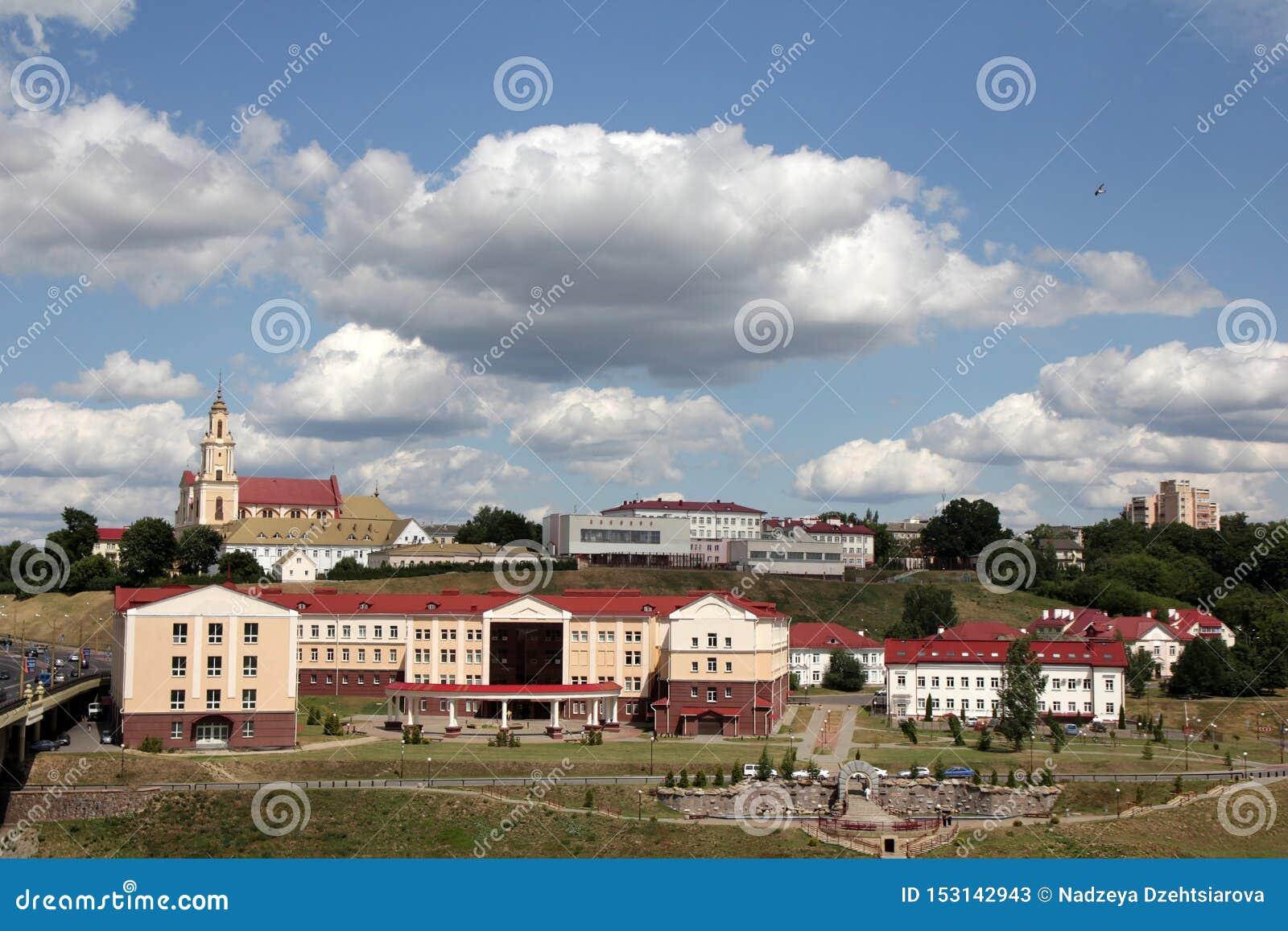 Vista de la parte histórica de la ciudad de Grodno