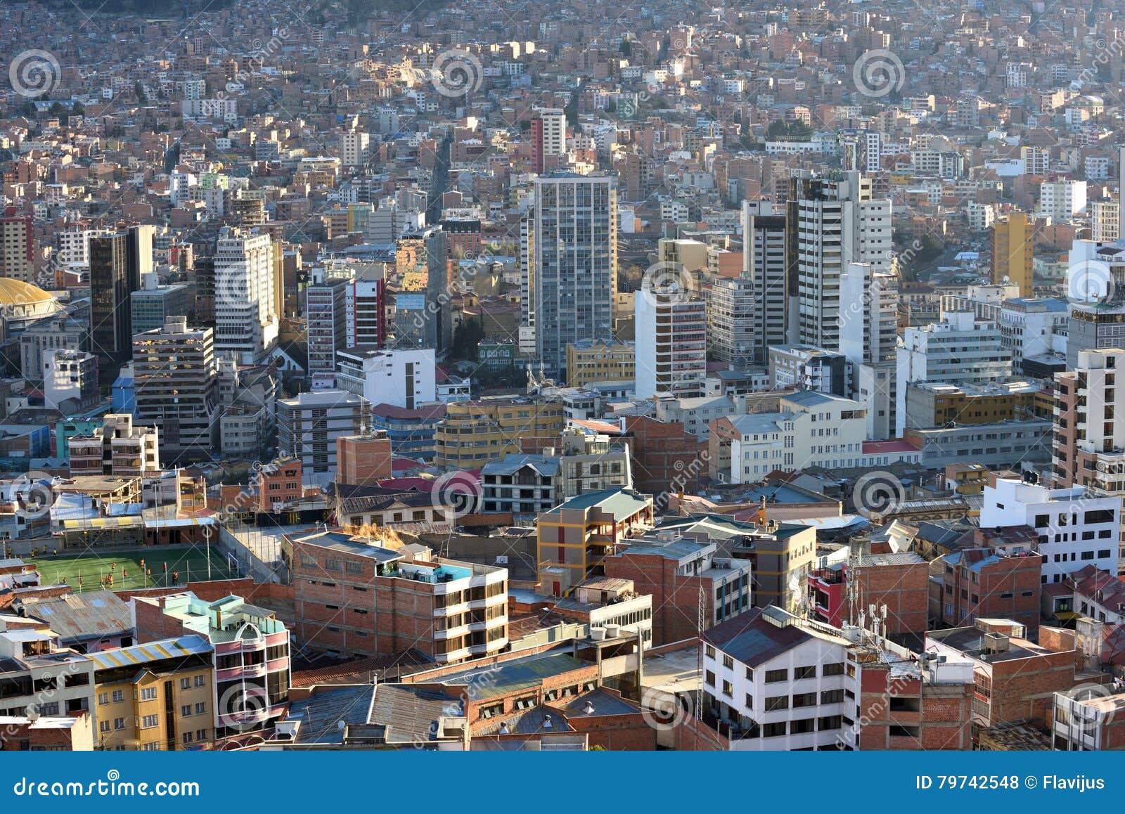 Vista de La Paz, Bolivia