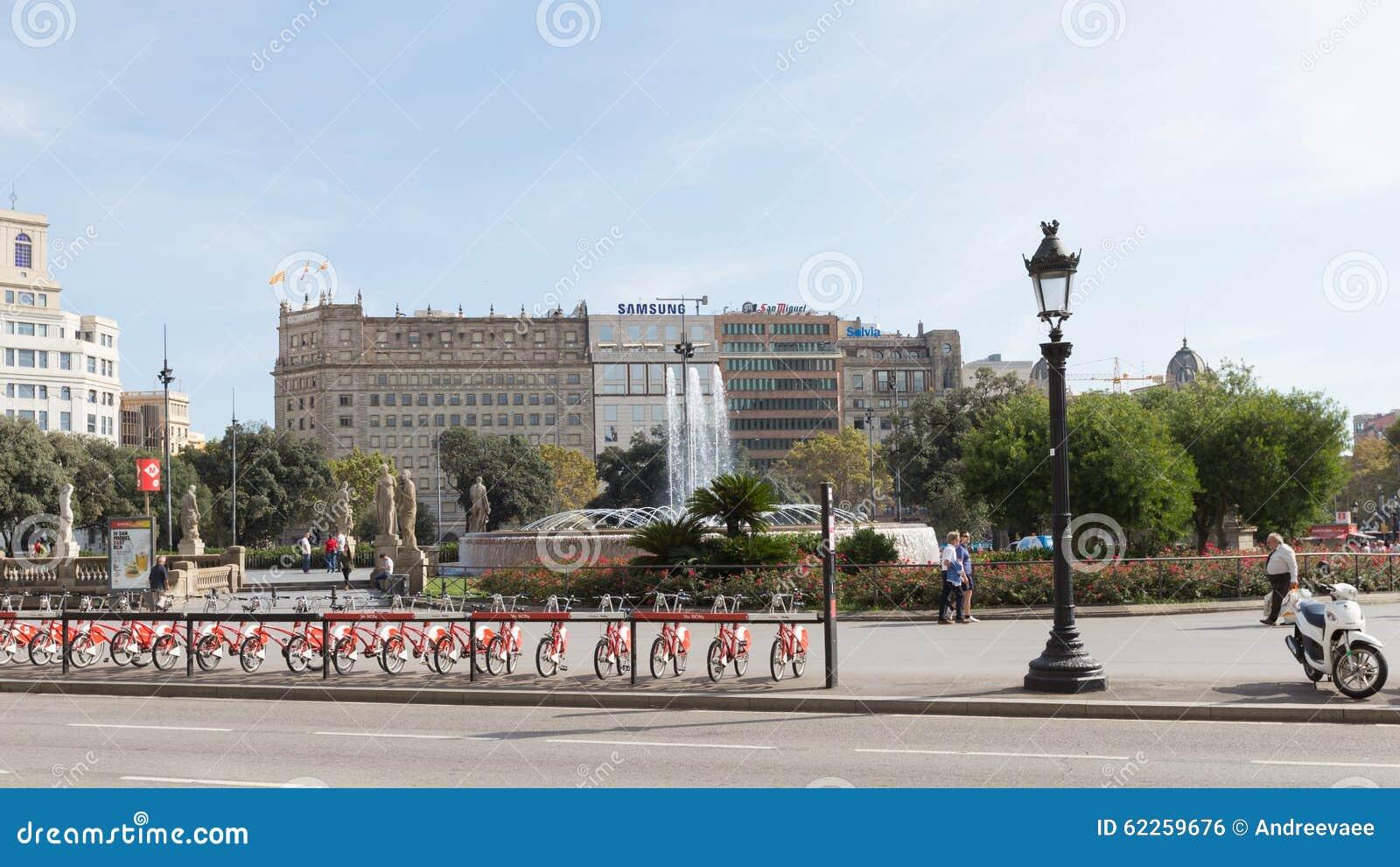 la plaza catalunya: