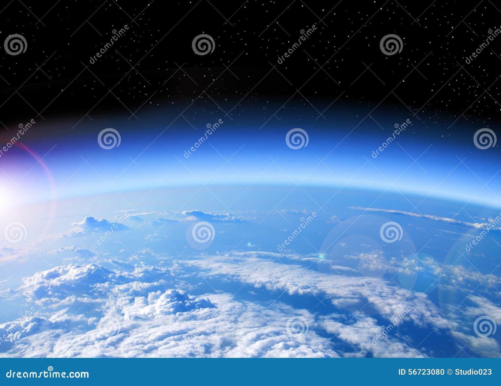 Vista de la tierra del espacio