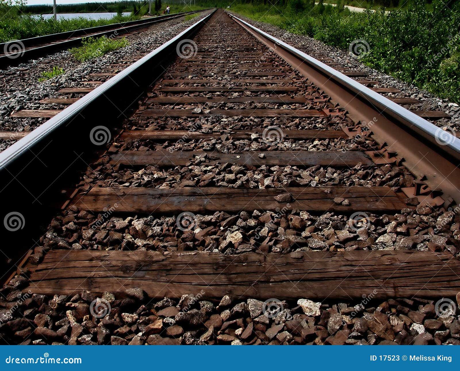Vista de las pistas del tren