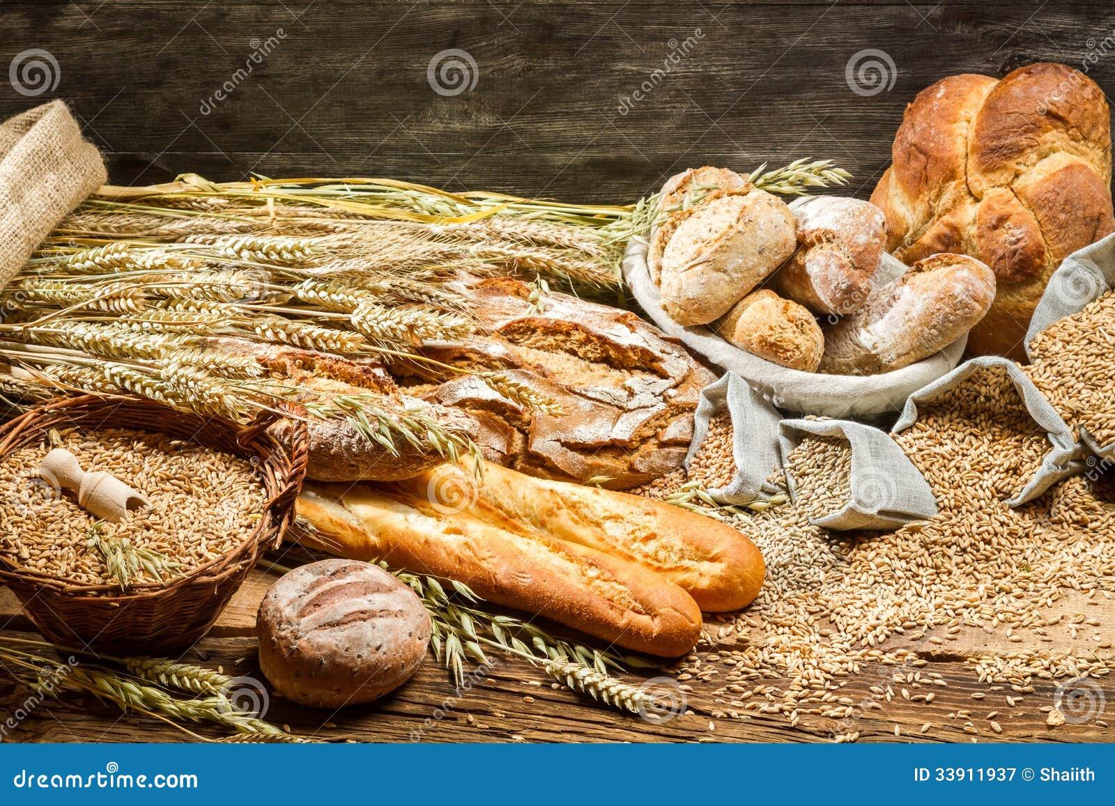 Vista de los productos en panadería
