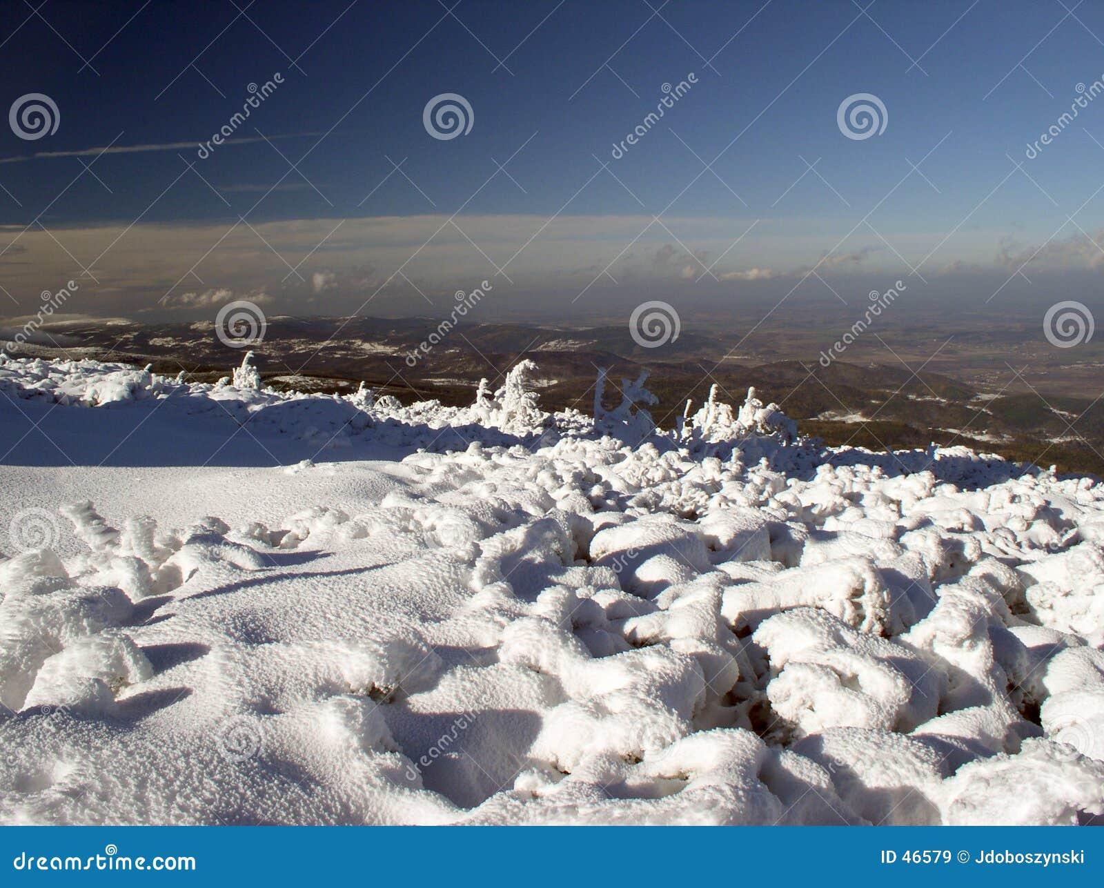 Vista de montanhas de Izerskie