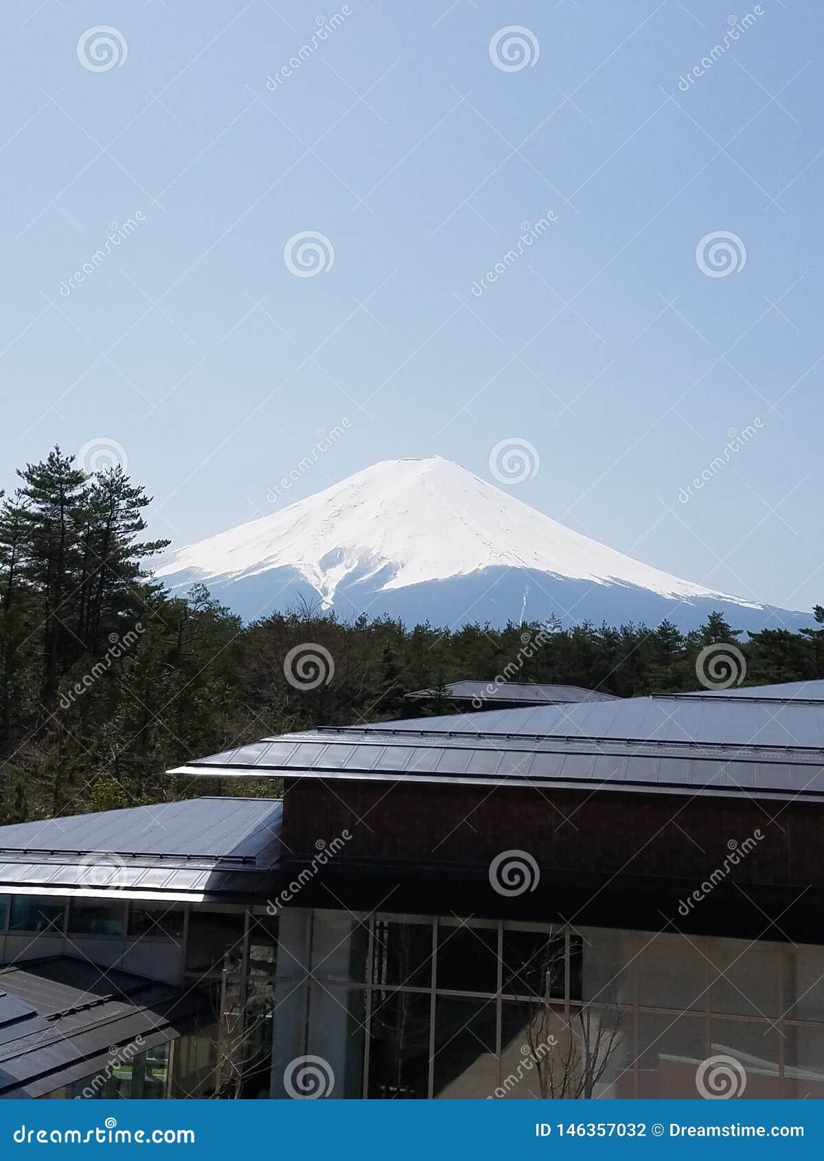 Vista de Monte Fuji em Jap?o