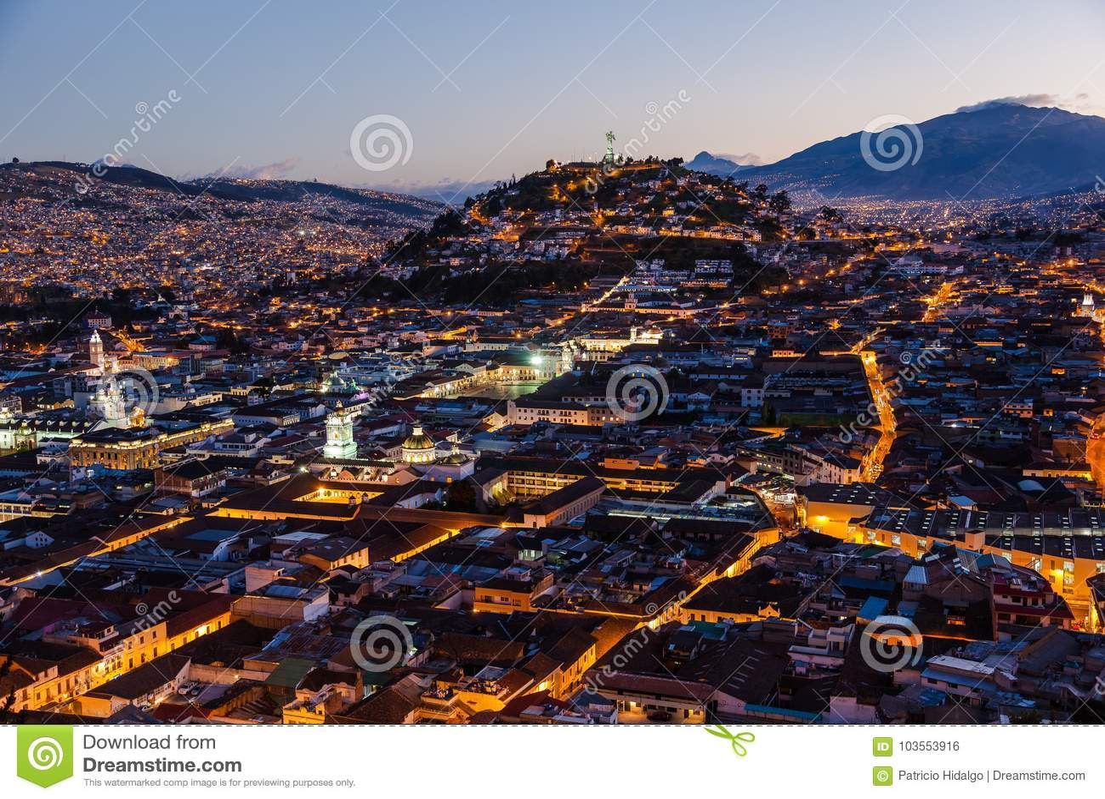 Vista de Quito colonial