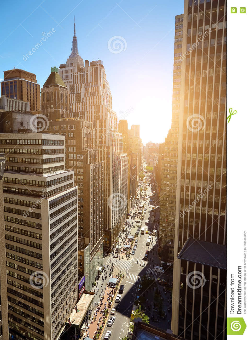 Vista de rascacielos en Manhattan, New York City