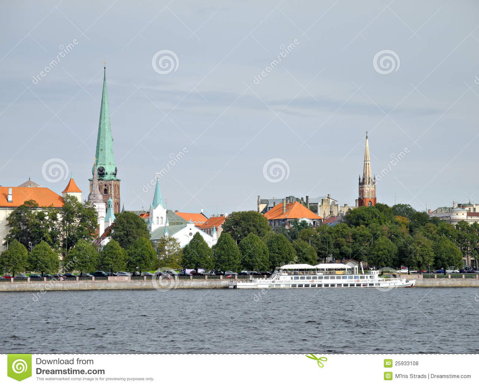 Vista de Riga vieja, la parte antigua de Riga