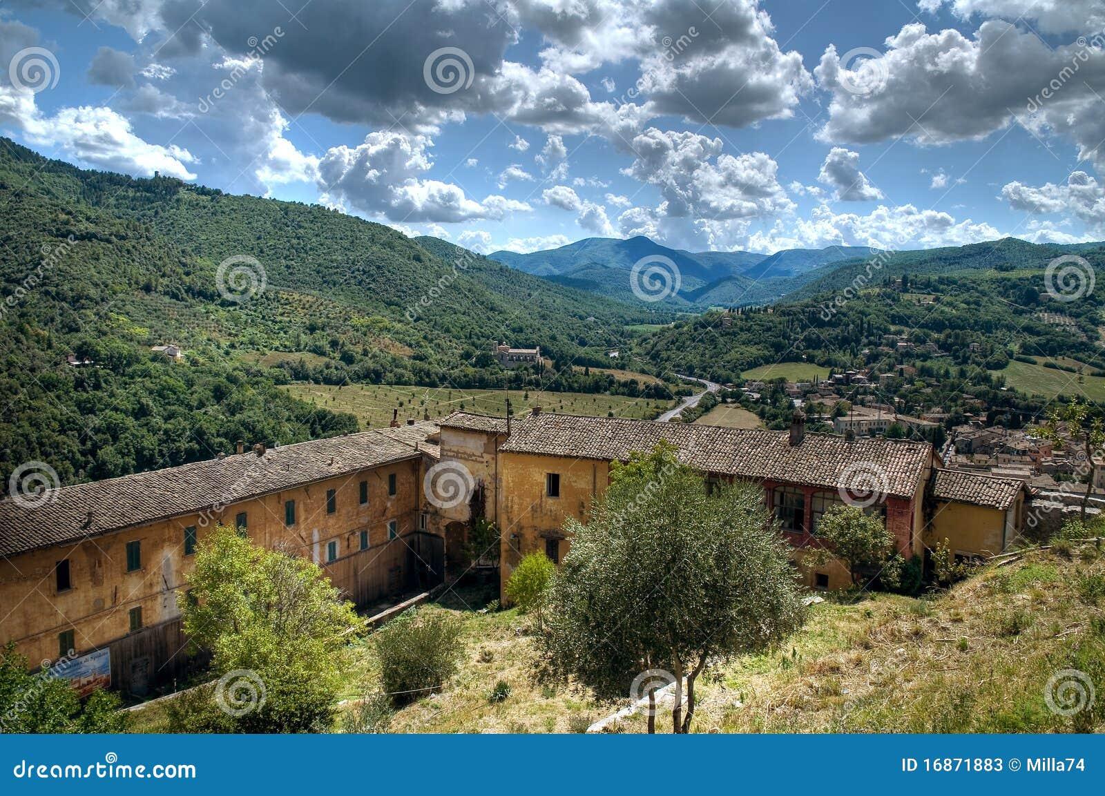 Vista de Spoleto. Úmbria.