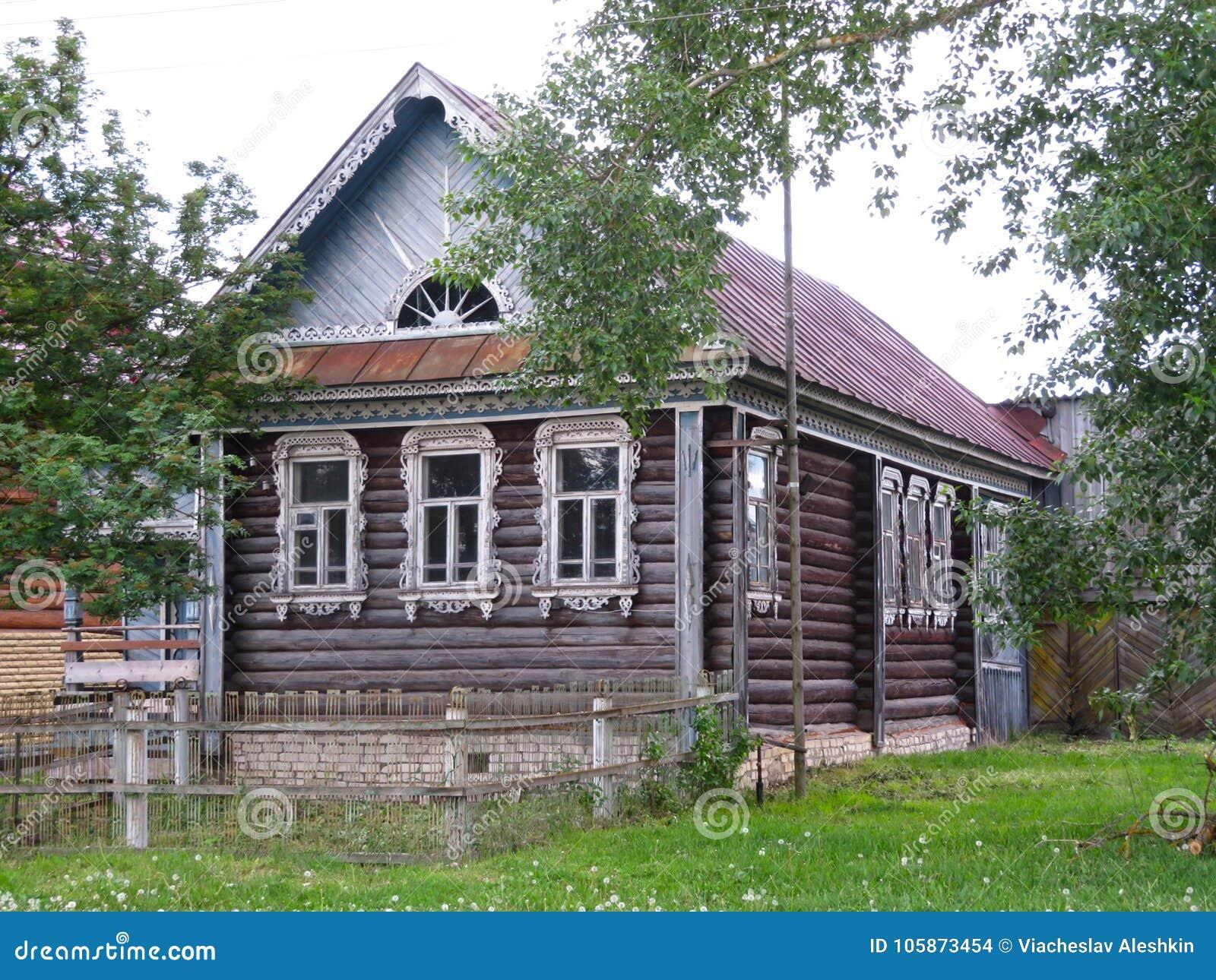 Vista de uma casa rural bonita