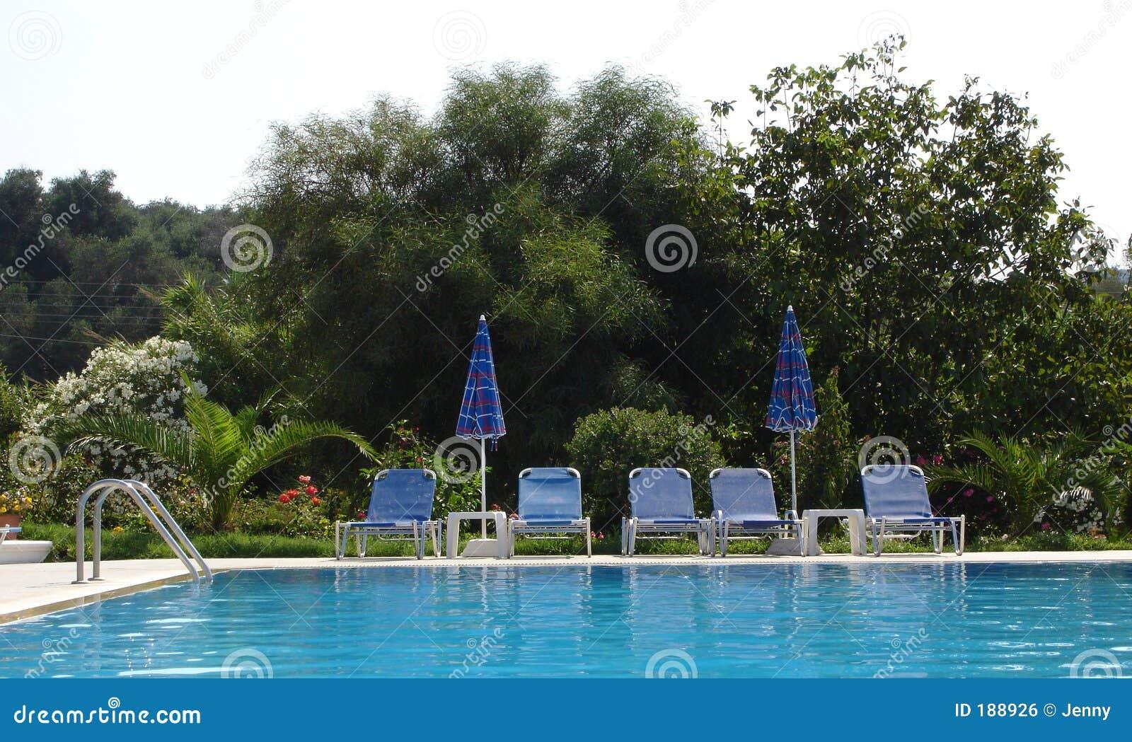 Vista de una piscina