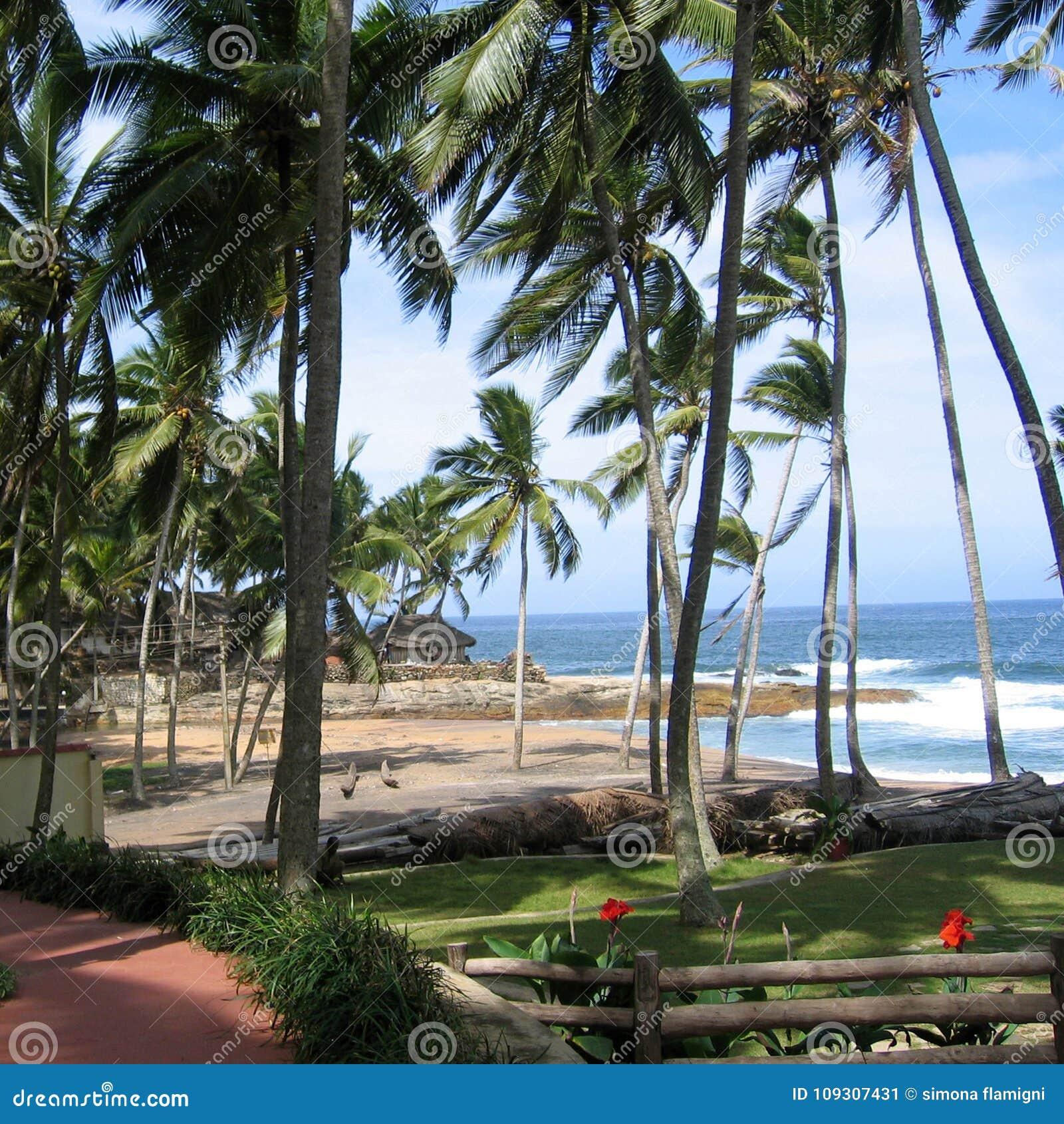 Vista de una playa en Kovalam