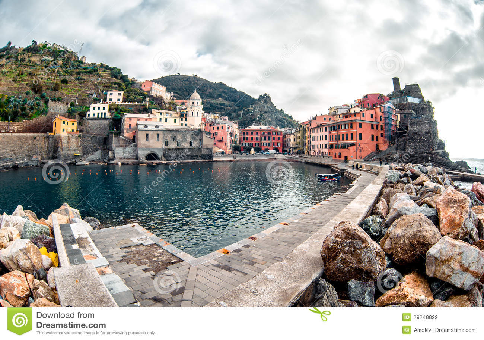 Download Vista de Vernazza foto de stock. Imagem de histórico - 29248822