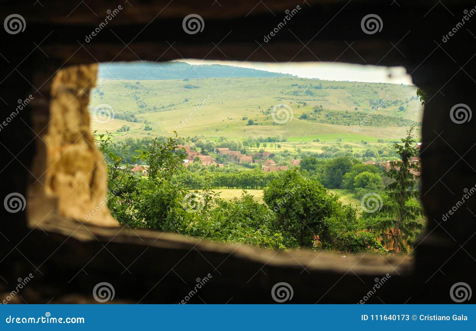 Vista de Viscri, Rumania