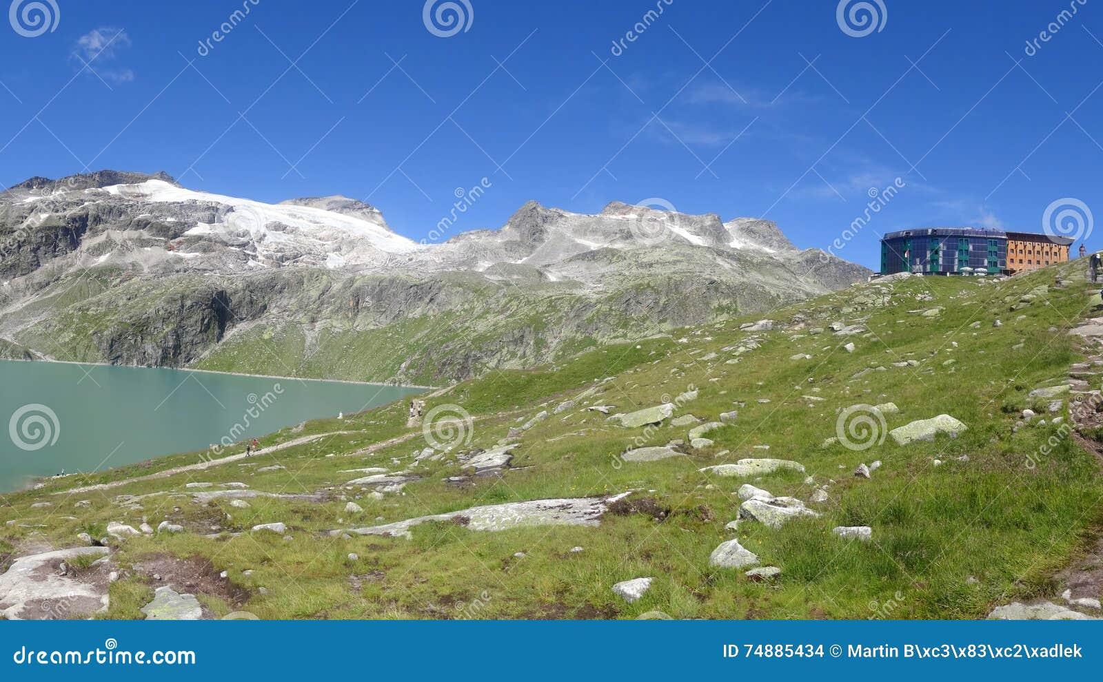 Vista de Weissee, Hohe tauern, Áustria