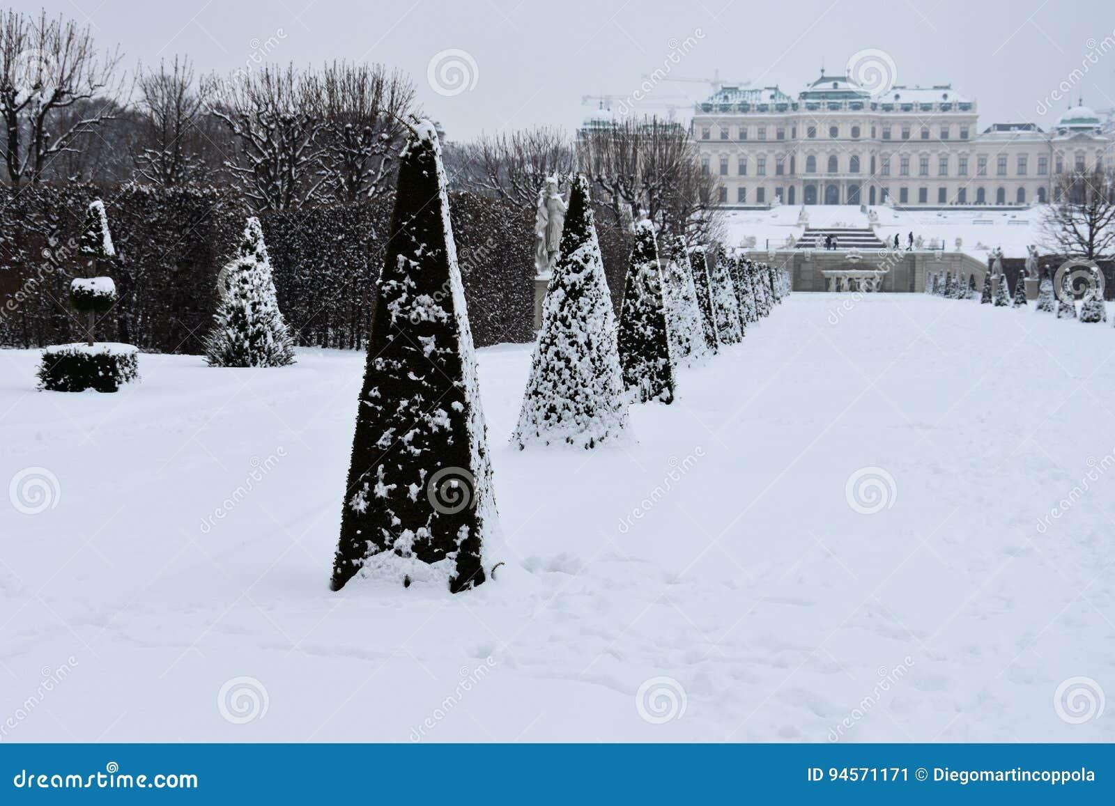 Vista dei giardini di belvedere