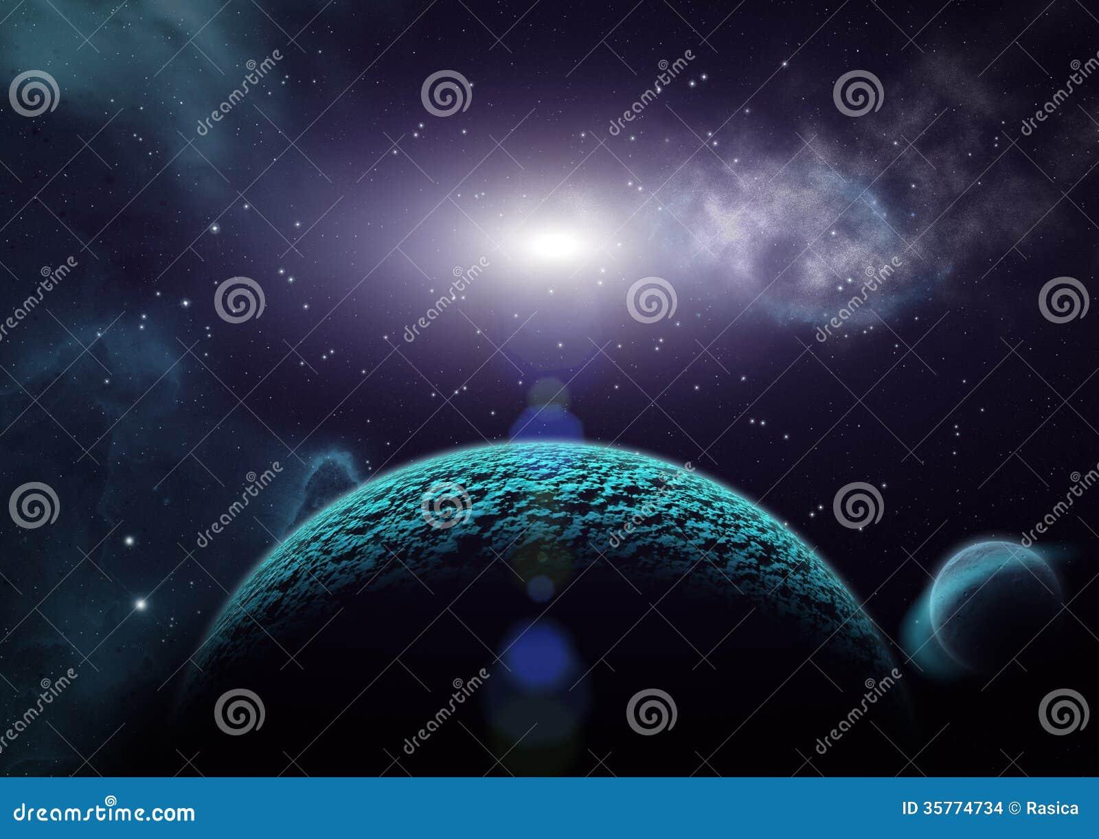 Vista dei pianeti delle lune e dell 39 universo for Immagini universo gratis