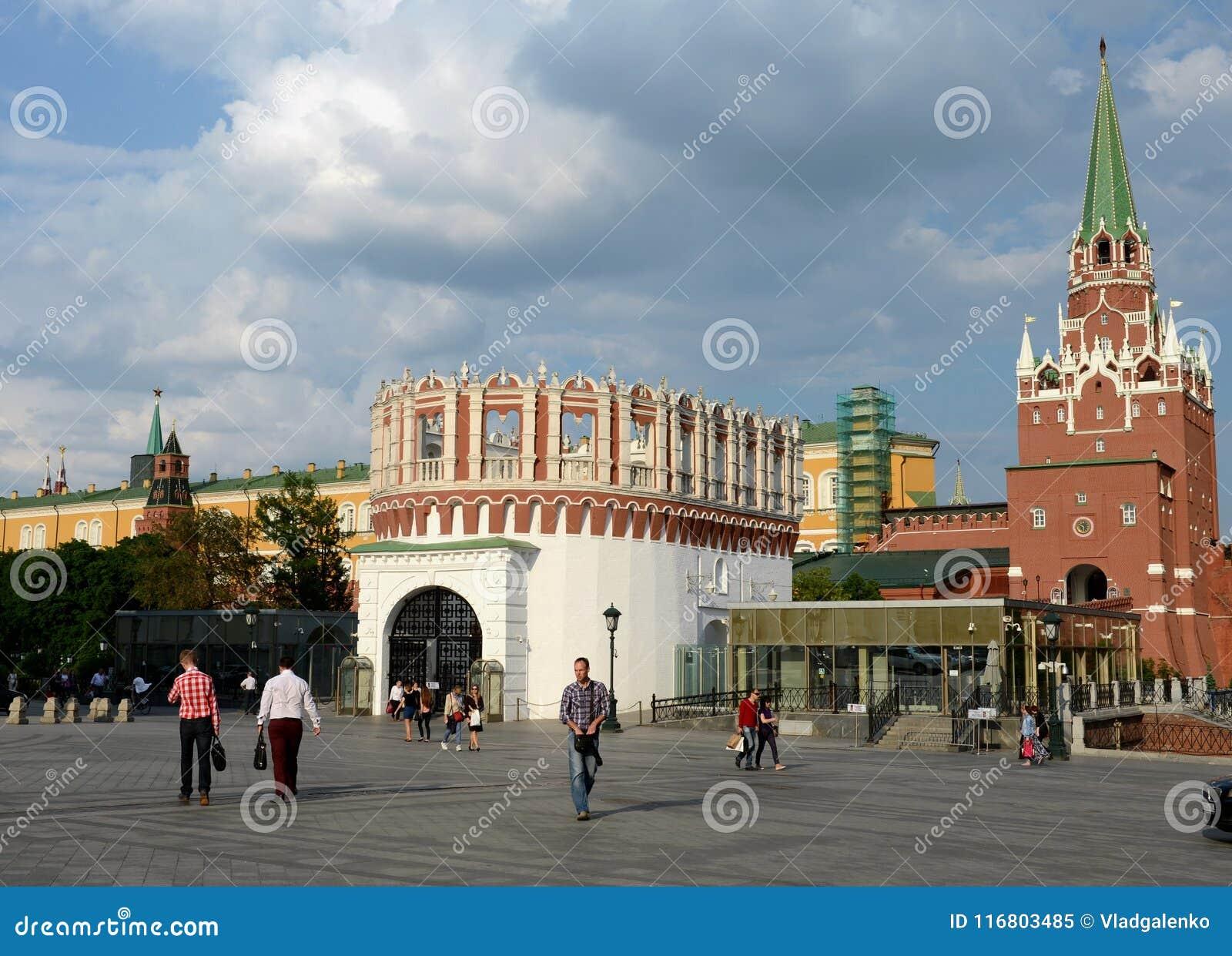 Vista del Cremlino di Mosca dal quadrato di Sapozhkovskaya