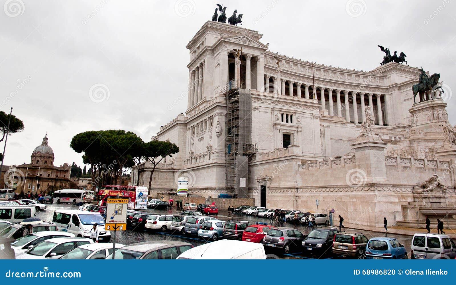 Vista del della Patria de Altare en Roma, Italia