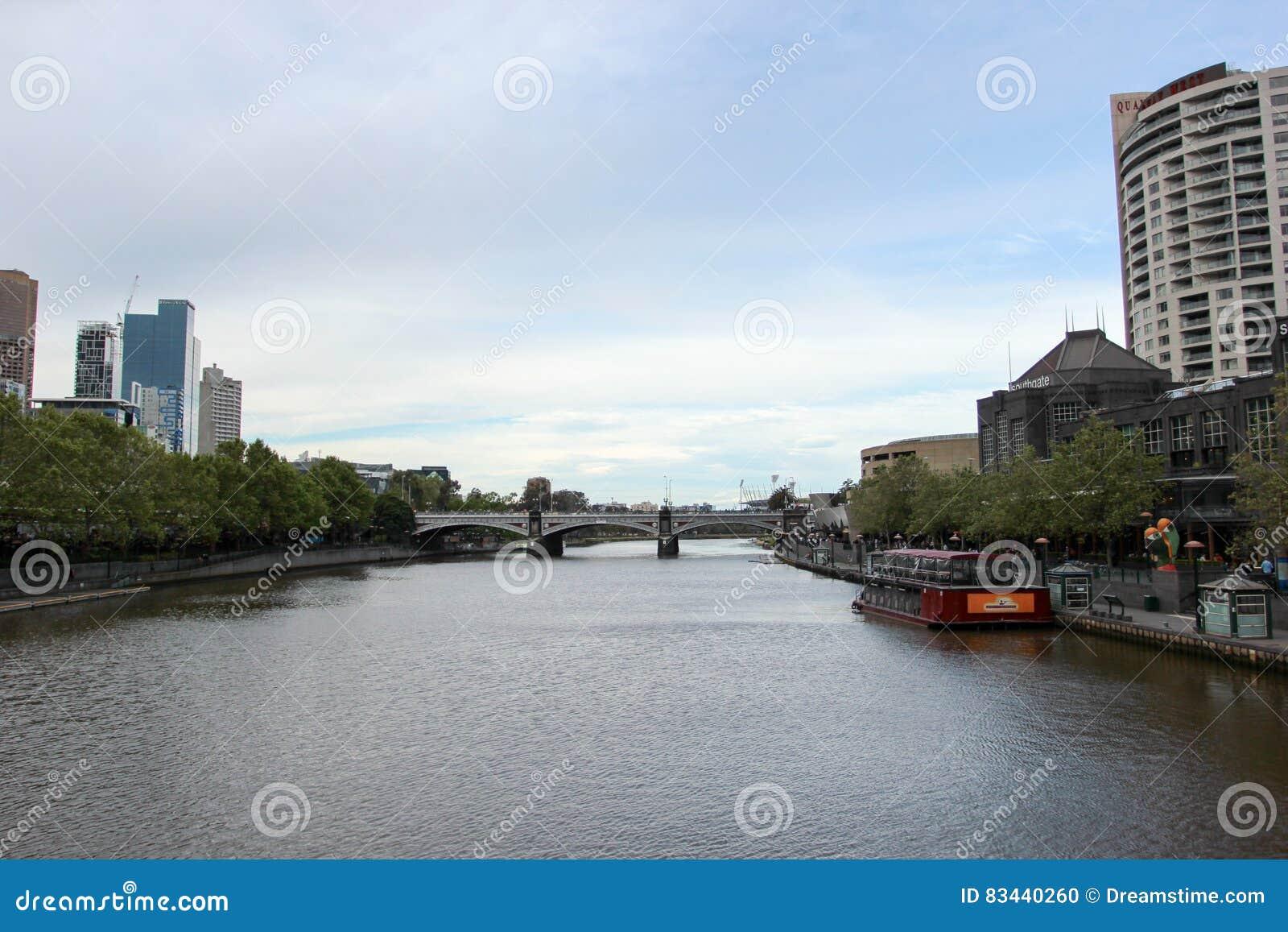 Vista del fiume di Melbourne
