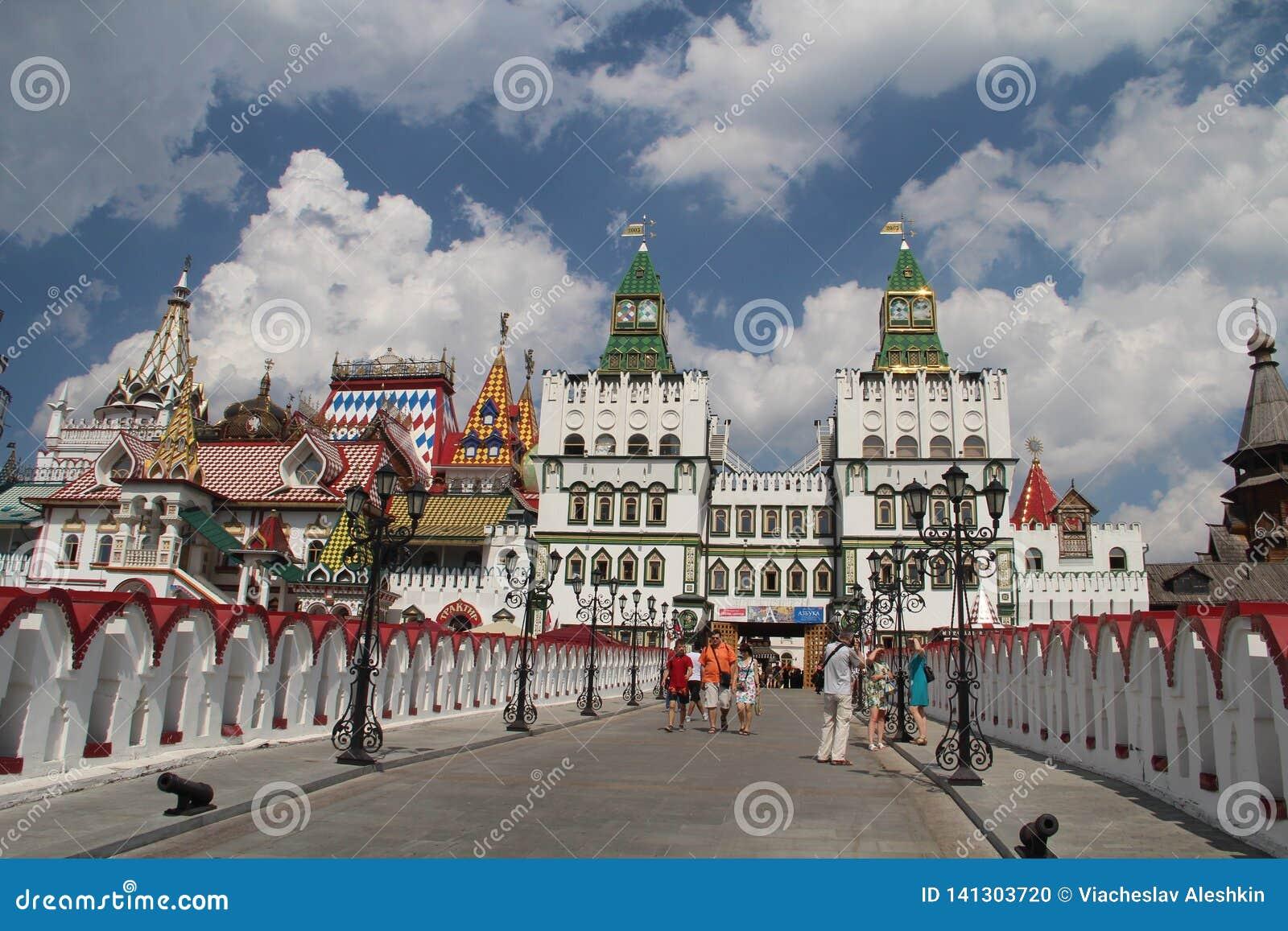 Vista del Izmailovo el Kremlin en Moscú, Rusia