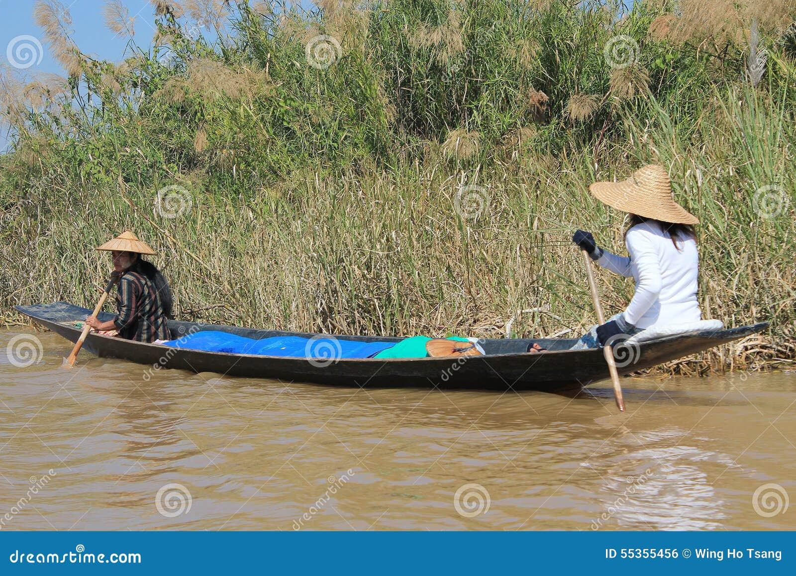 Vista del lago myanmar Inle