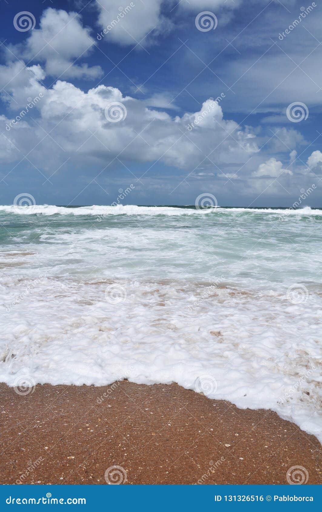 Vista del paesaggio della spiaggia di Pedrera della La in Rocha, Uruguay