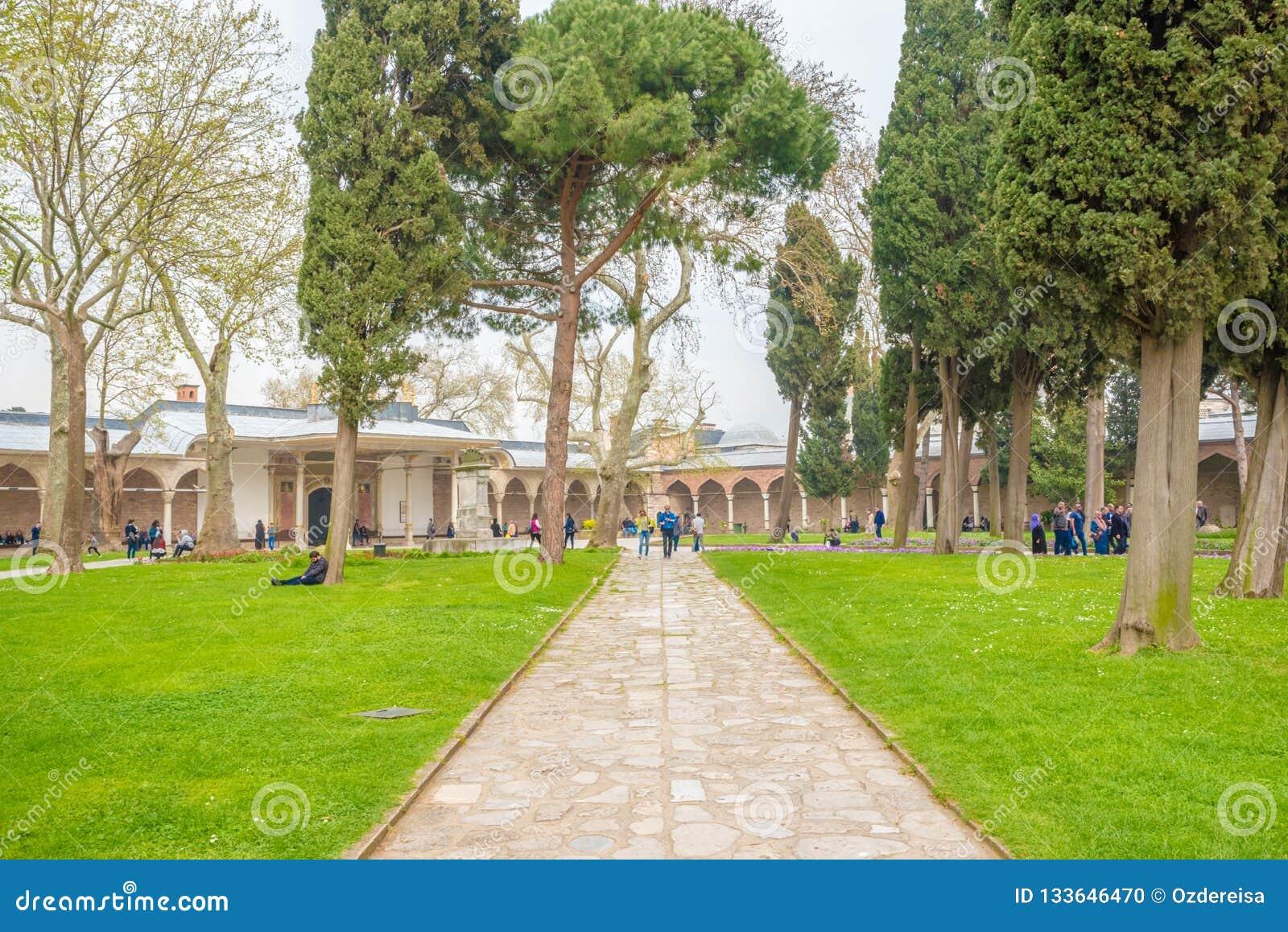 Vista del palacio de Topkapi en Estambul, Turquía