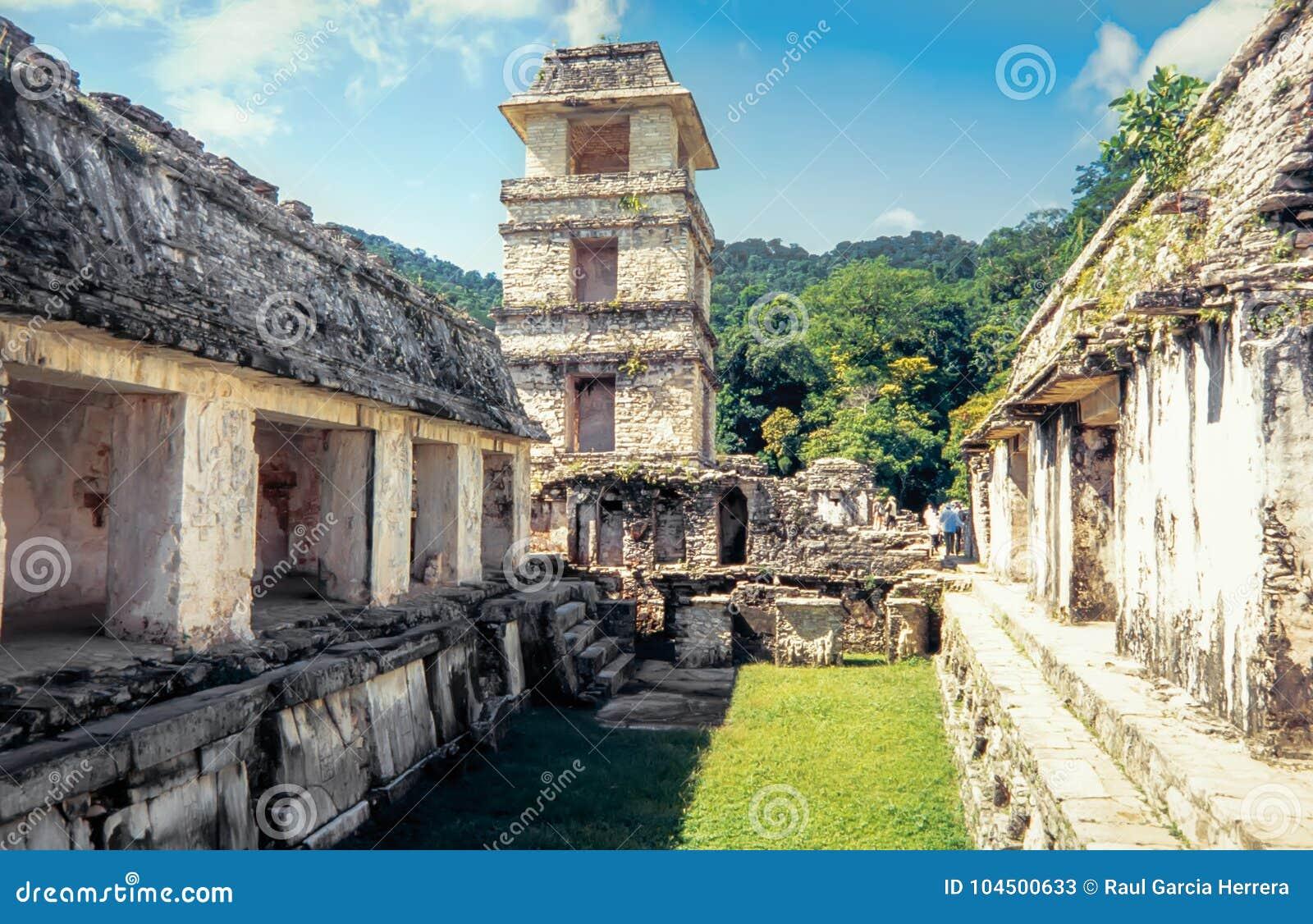 Vista del palazzo, Palenque Patrimonio mondiale dell Unesco, il Chiapas